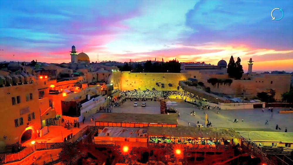 Illustration: Jerusalem's Old City, Screenshot (The Original Jerusalem 00:06)