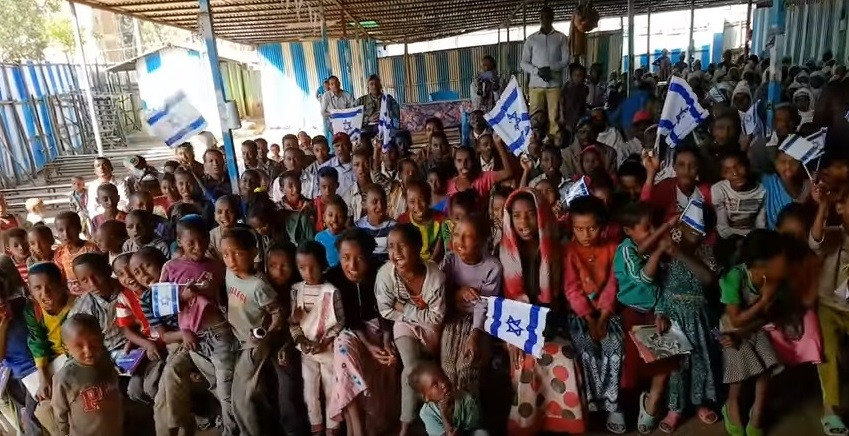Ethiopian Jews in Gondar (Image credit: YouTube screenshot)