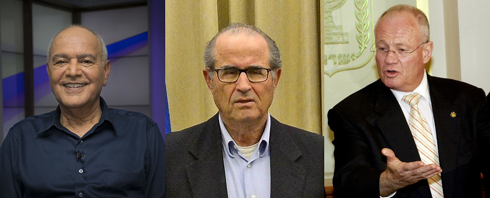 Three CIS Members (l. to r.) Dan Halutz, Shabtai Shavit and Danny Yatom (Image Credit (l. to r.) Arielinson - Own work [CC BY-SA 4.0] via Wikimedia; Haim Zach/Government Press Office of Israel; and Avi Ohayon/Government Press Office of Israel)