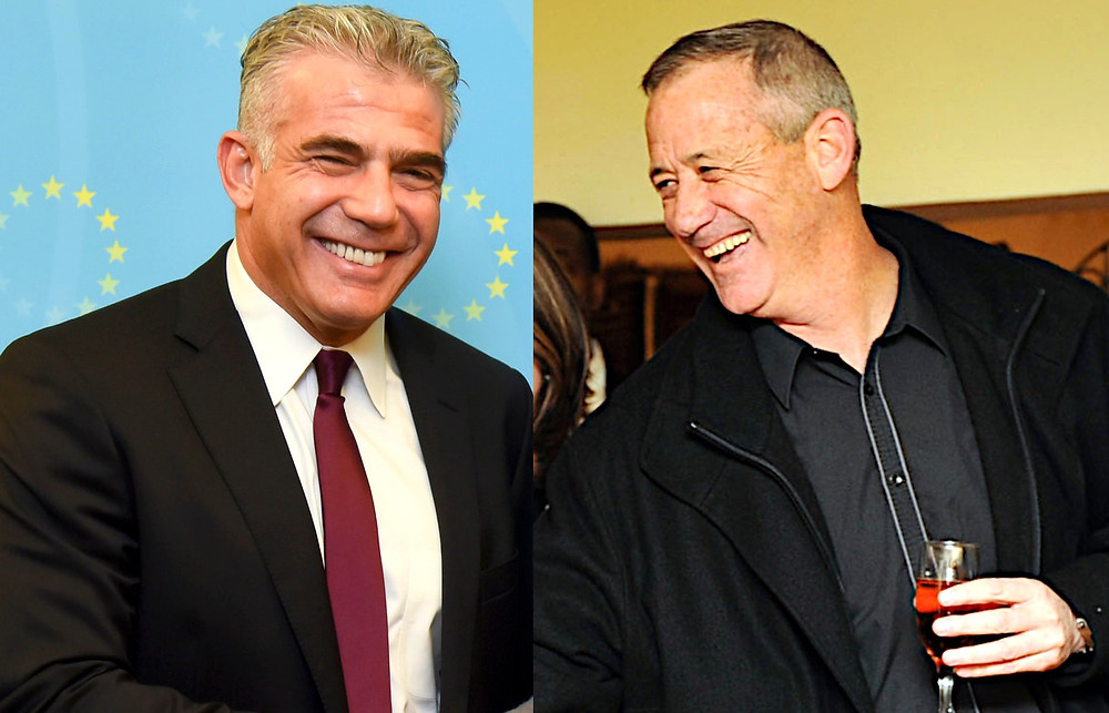 Composite of Yair Lapid (l.) by European External Action Service [CC BY-NC 2.0] via Flickr and Benny Gantz (r.) by Sgt. Ori Shifrin, IDF Spokesperson Unit [CC BY-NC 2.0] via Flickr