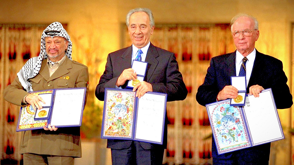 Illustration: 1994 Nobel Peace Prize Laureates In Oslo (Image Credit: Government Press Office of Israel (GPO) [CC BY-SA 3.0] via Wikimedia