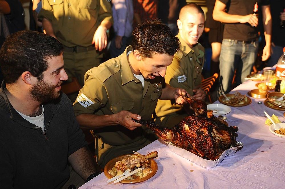 Illustration: IDF Soldiers Celebrate Feast by Ori Shifrin, IDF Spokesperson's Film Unit [CC BY-NC 2.0] via Flickr