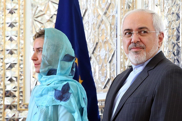 EU Foreign Policy Chief Federica Mogherini wears a hijab with Iranian Foreign Minister Javad Zarif (Image credit: Tasnim News Agency [CC BY 4.0 (http://creativecommons.org/licenses/by/4.0)], via Wikimedia Commons)