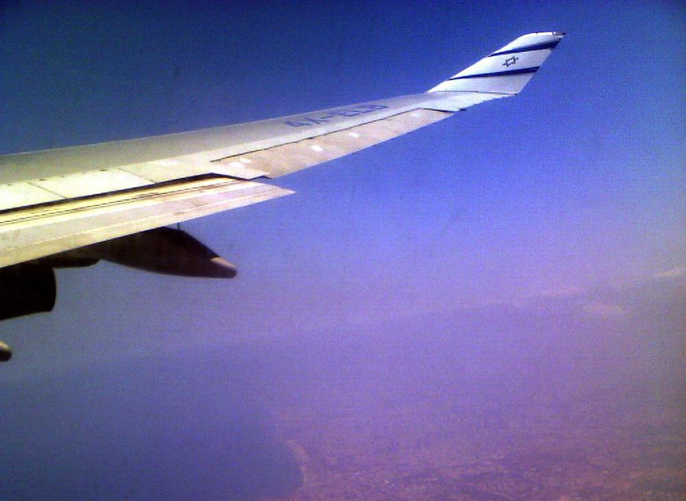 Illustration: El Al In Flight Over Tel Aviv (Image credit: N. Sher)