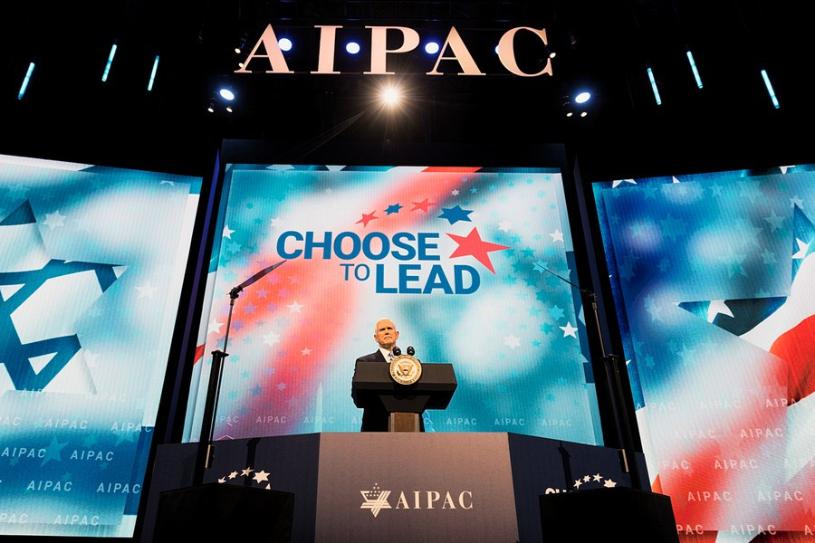 Image: Pence at AIPAC 2018, Official White House Photo by D. Myles Cullen (Public Domain).