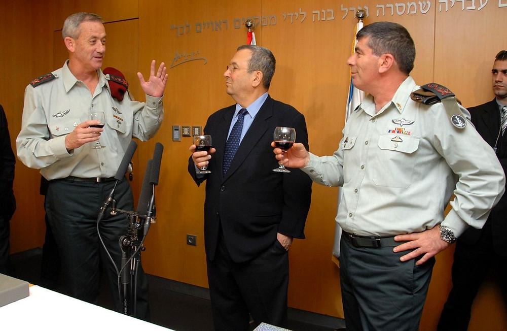 Benny Gantz, Ehud Barak and Gabi Ashkenazi by Israel Defense Forces [CC BY-NC 2.0] via Flickr