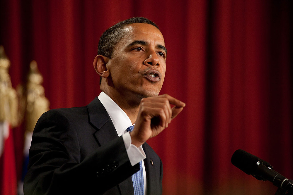 Barak Obama Speaks in Cairo byChuck Kennedy (Official White House photo)[Public domain], via Wikimedia Commons