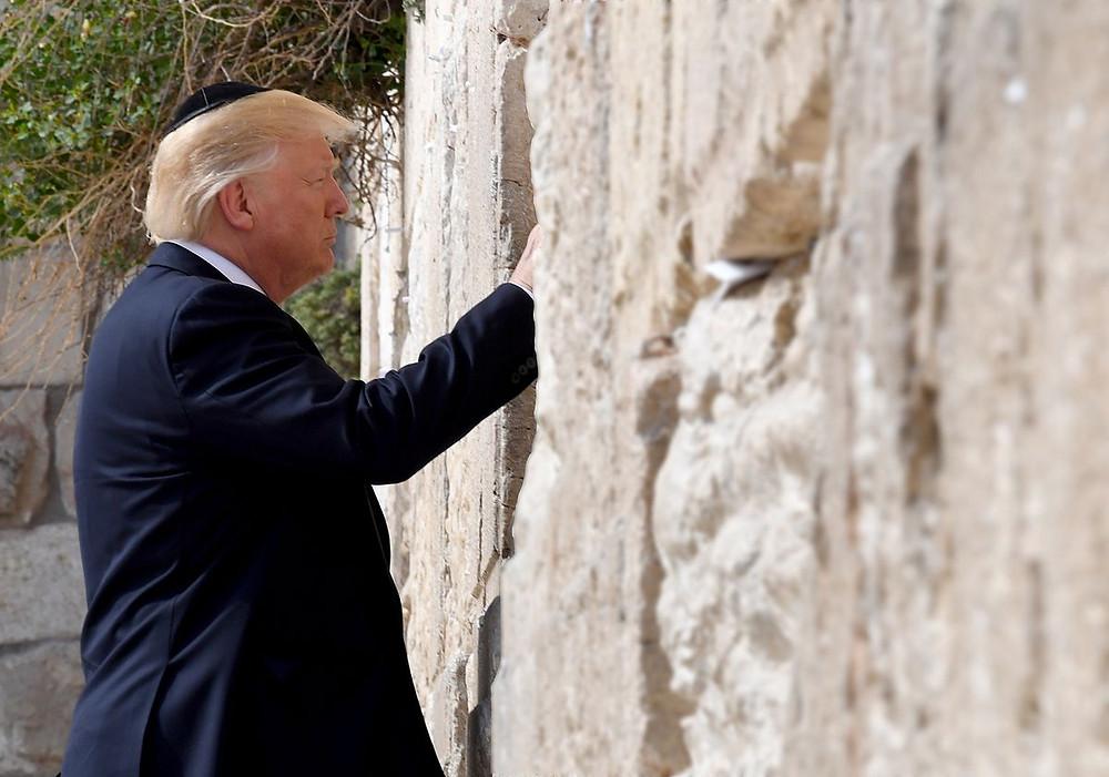 Trump at Western Wall (Image Credit: Matty Stern/U.S. Embassy Tel Aviv)
