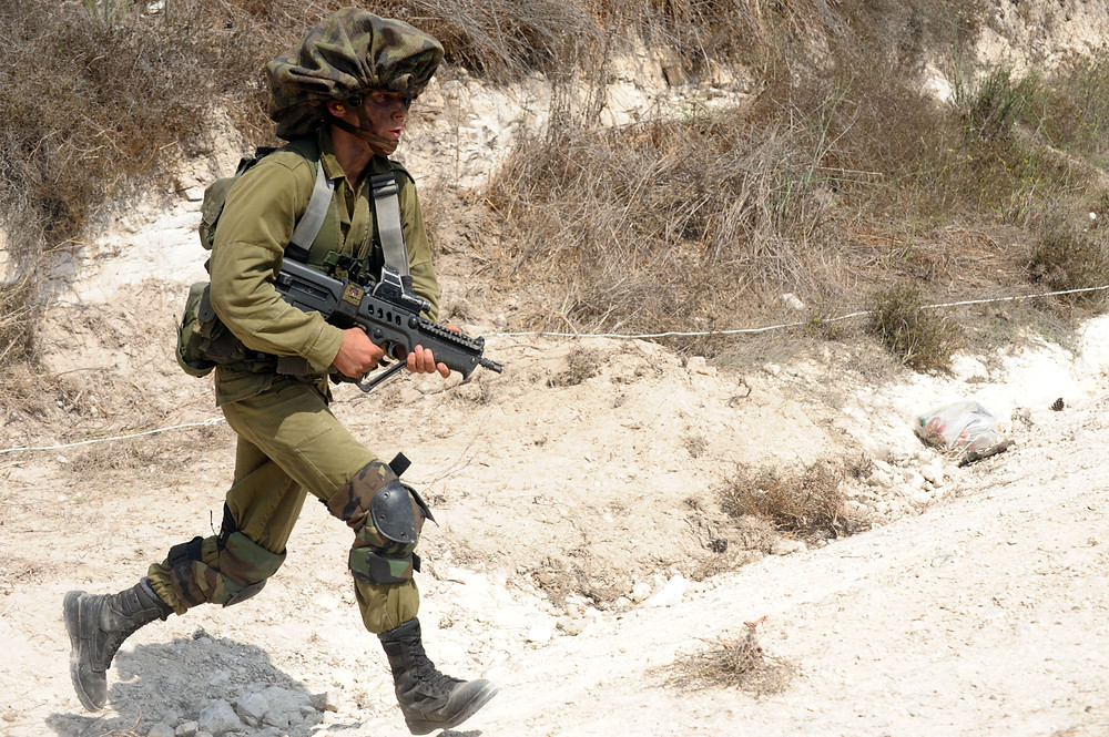 Illustration: IDF soldier (Image credit: Moshe Milner/Government Press Office of Israel)