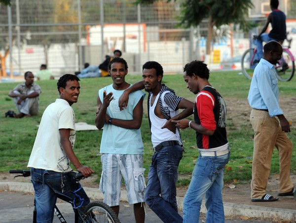 African infiltrators in Tel Aviv (Image credit: Avi Ohayon/Government Press Office of Israel)