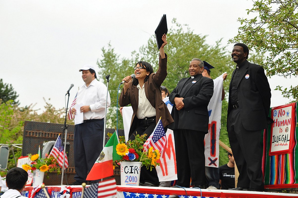 Rashida Tlaib at 2010 Rally (DSC_1751e) by Ben Seese [CC BY-NC-ND 2.0] via Flickr