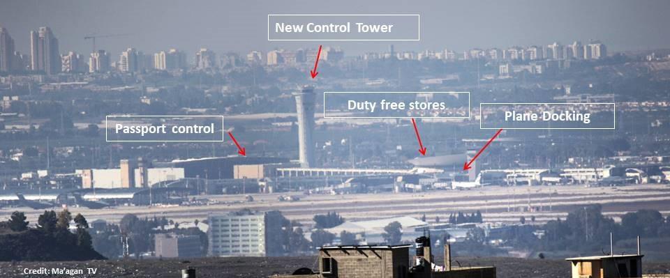 View of Ben Gurion Airport [Martin Sherman (Credit: Maagan TV)]
