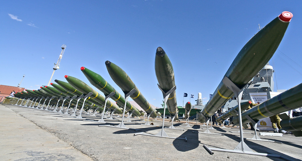 Illustration: Seized Iranian weapon shipment (Image credit: Haim Zach/Government Press Office of Israel)