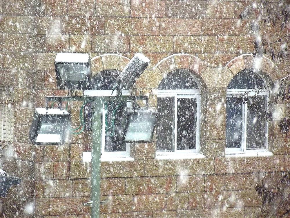 Snow in Jerusalem (Image Credit: N. Sher)