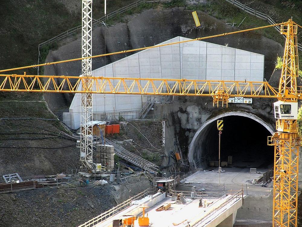 High-speed Rail Line Tunnel Construction Site, Public Domain.