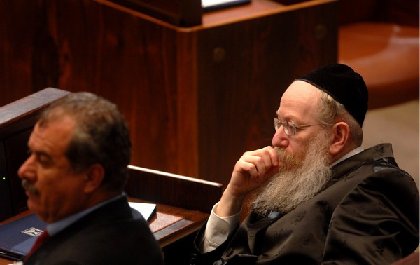 MKs Ya'akov Litzman and Muhammad Barakeh (Image credit: Avi Ohayon/Government Press Office of Israel)