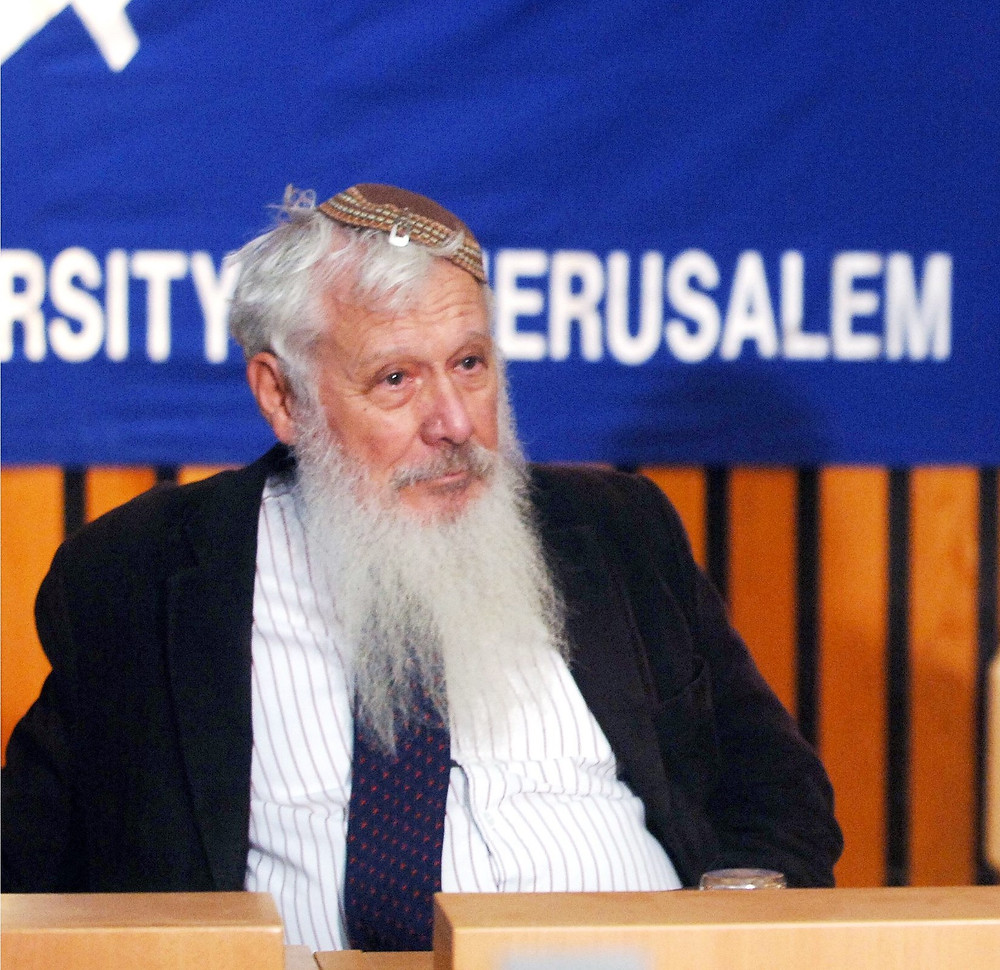 Prof. Israel Aumann after announcement of Nobel Prize in Economics (Image credit: Moshe Milner/Government Press Office of Israel)