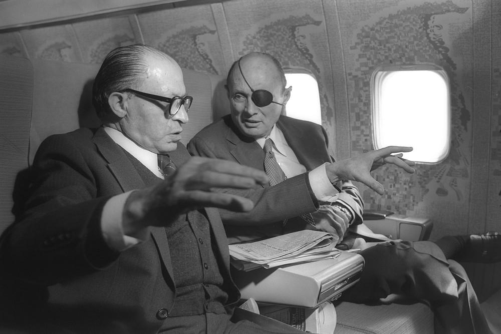 Menachem Begin and Moshe Dayan (Image credit: Ya'acov Sa'ar/Government Press Office of Israel)