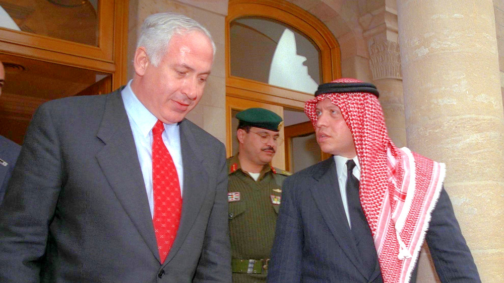 Illustration: Jordan's King Abdullah II Accompanying Netanyahu After Meeting In Amman (Image credit: Avi Ohayon/Government Press Office of Israel)