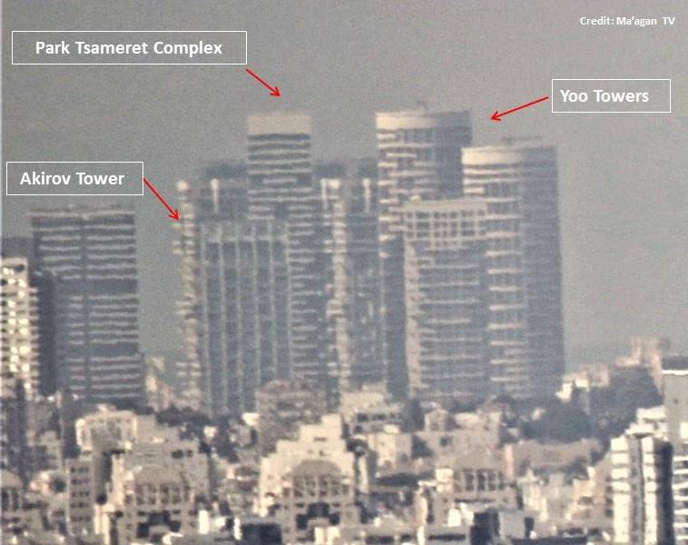 Enlarged view of Paek Tzameret Complex [Martin Sherman (Credit: Maagan TV)]