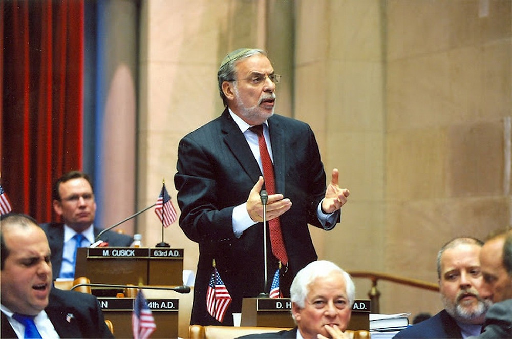Assemblyman Hikind Speaking in the NY State Legislature (Image Credit: PR Photo)