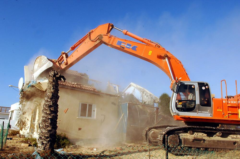 Illustration: House demolition (Image credit: Amos Ben Gershom/Government Press Office of Israel)
