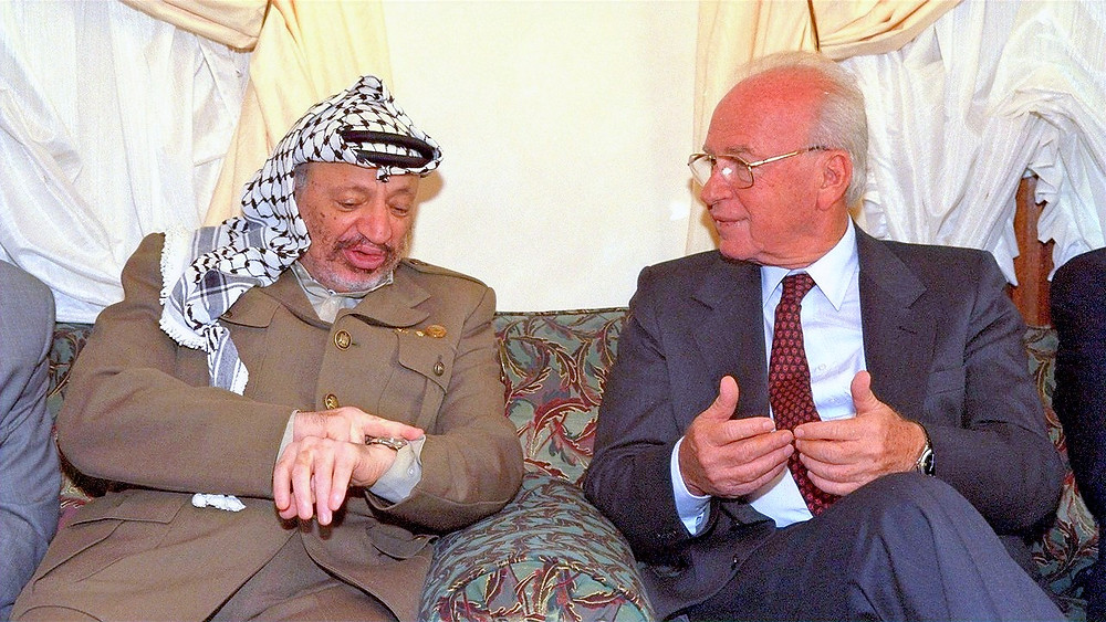 Illustration: Prime Minister Yitzhak Rabin meets in Casablanca with PLO Chairman Yasser Arafat (Image credit: Saar Yaacov/Government Press Office of Israel) [CC BY-NC-SA 2.0] via Flickr