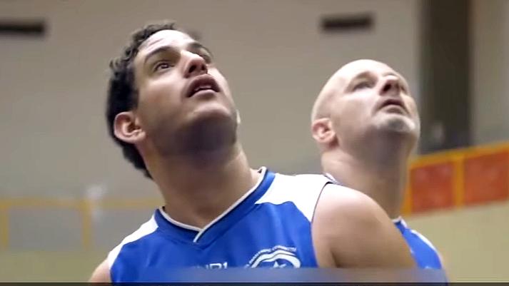 Illustration: Asael Shabo in Basketball Game, Screenshot (Boomerang's YouTube Weekly Terror Report 03:12)