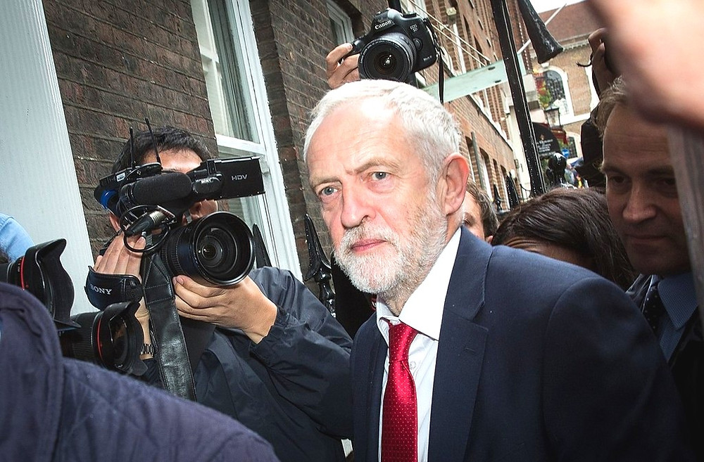 Rt Hon Jeremy Corbyn, Leader of the Labour Party, UK, by Chatham House [CC BY 2.0] via Wikimedia