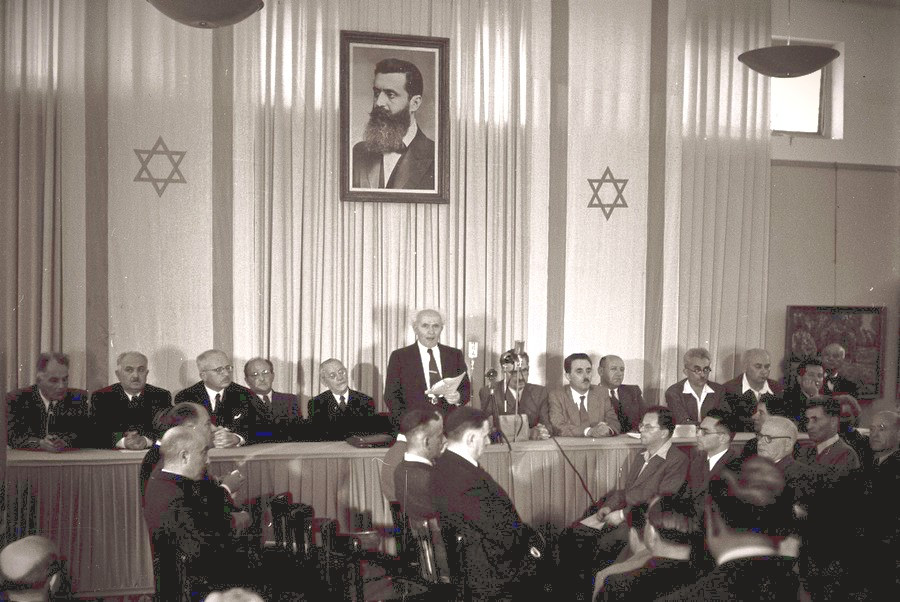 David Ben-Gurion Reading The Declaration Of The Independence Of Israel (Image credit: Zoltan Kluger/Government Press Office of Israel)