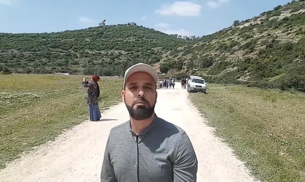 Ezri Tubi in Samaria (Image credit: Boomerang's YouTube Weekly Terror Report 02:09)