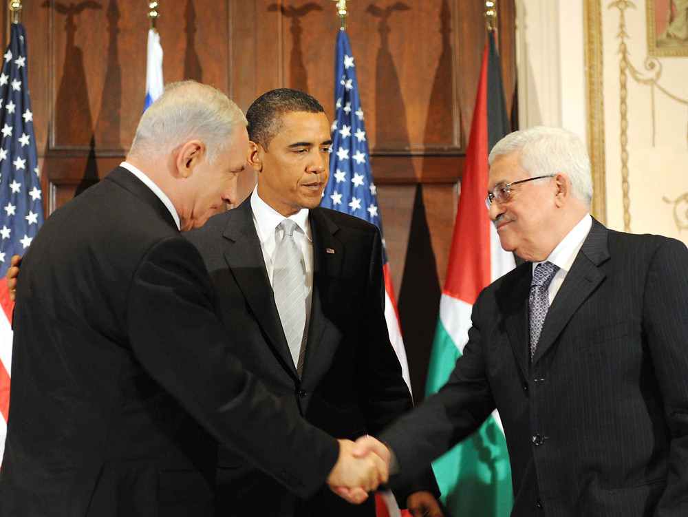 Binyamin Netanyahu, Barack Obama, Mahmoud Abbas (Image credit: Avi Ohayon/Government Press Office of Israel)