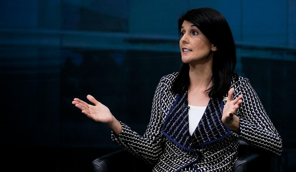 Illustration (Image Credit: U.S. Amb. to the U.N. Nikki Haley speaks on the Future of the U.S. in the Human Rights Council by U.S. Mission Photo/Eric Bridiers (CC BY-ND 2.0) via flickr)