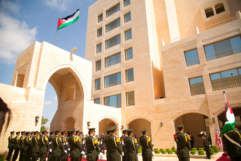 The Presidential Palace of the Palestinian Authority by Shealah Craighead, Official White House Photo [Public Domain] via Wikimedia