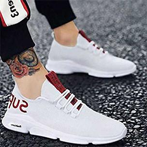 White Mesh Sports Shoes
