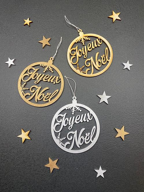 """Boule en bois """"Joyeux Noël """""""