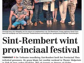 Sint-Rembert wint provinciaal festival - KW