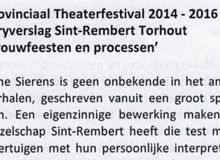 Toneelkring Sint Rembert geselecteerd voor de finale van het Provinciaal Theaterfestival in 2016