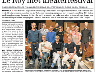 Rembert eert Annemie Le Roy met theaterfestival - KW