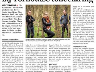 Toneelkring Sint-Rembert in De Weekbode van 11 maart 2016: De Naamlozen - KW
