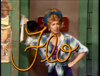 Flo in opening credits