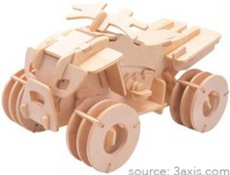 Wooden Terrain Vehicle