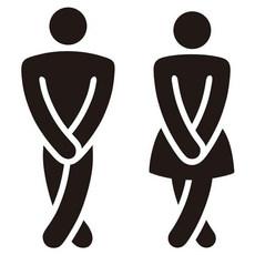 Men Women Toilet Sign