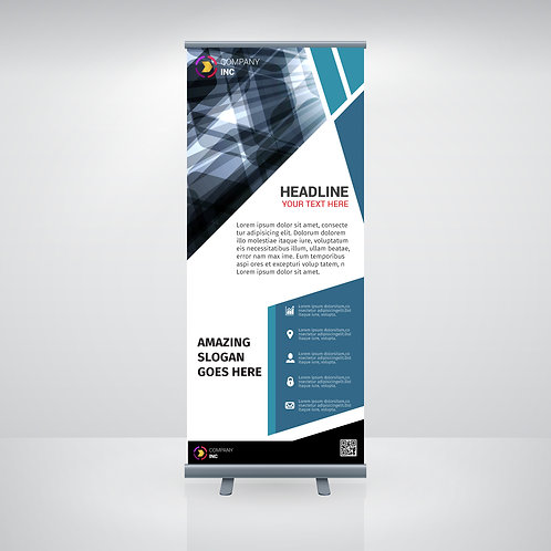 800 x 2000mm Budget Roll Up Banners