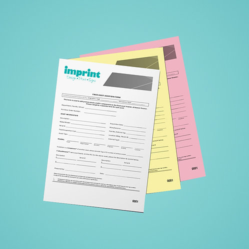 A5 3 Part NCR Sets - Single Sided Colour Print Only from