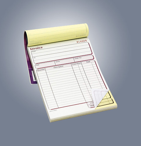 A5 2 Part NCR Pads - Single Sided Colour Print Only from