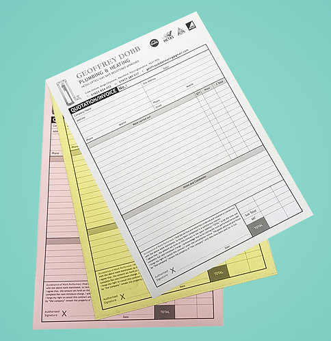 A4 3 Part NCR Sets - Single Sided Black Print Only from