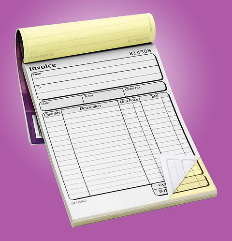 A4 2 Part NCR Pads - Single Sided Black Print Only from