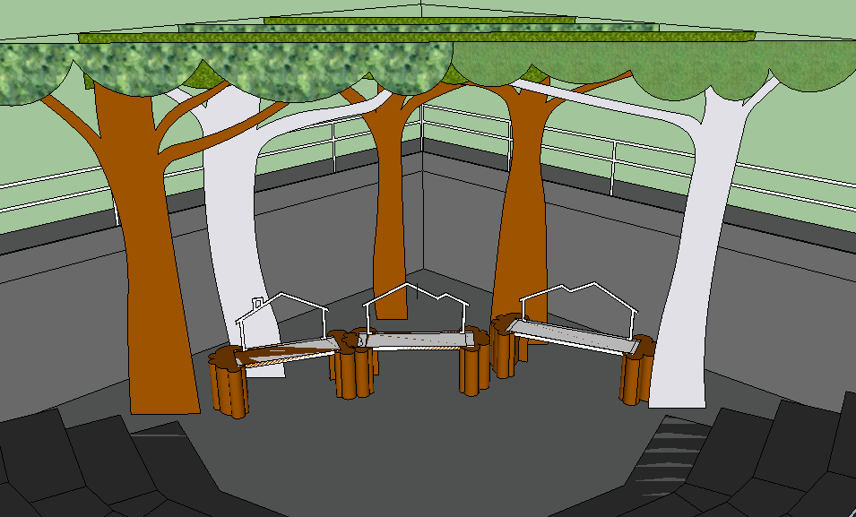 Early Concept SketchUp Rendering