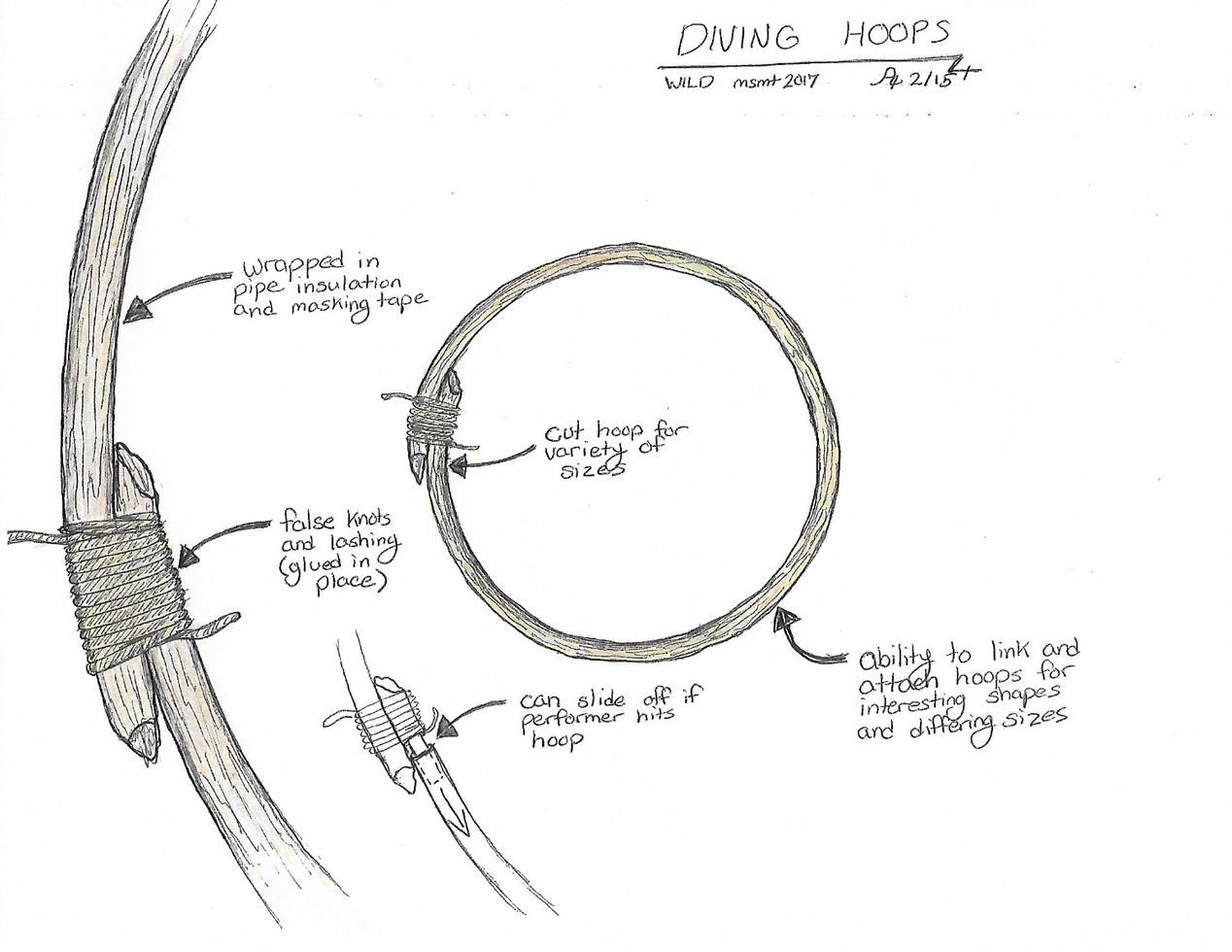 Diving Hoop Sketch